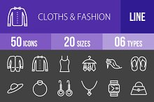 50 Clothes & Fashion Line Inverted