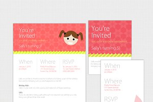 Birthday Invite Pack for Web & Print