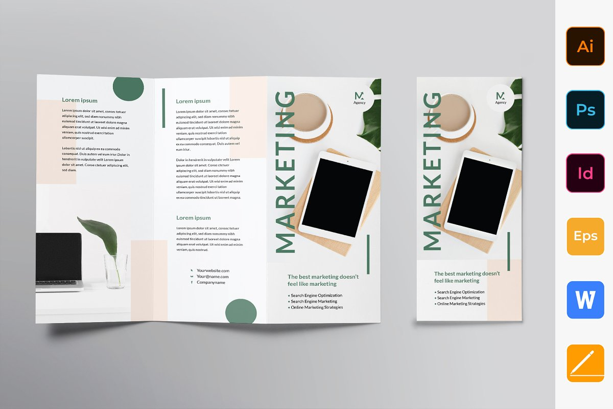 Marketing Agency Brochure Trifold