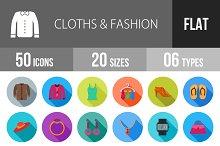 50 Clothes & Fashion Flat Shadowed