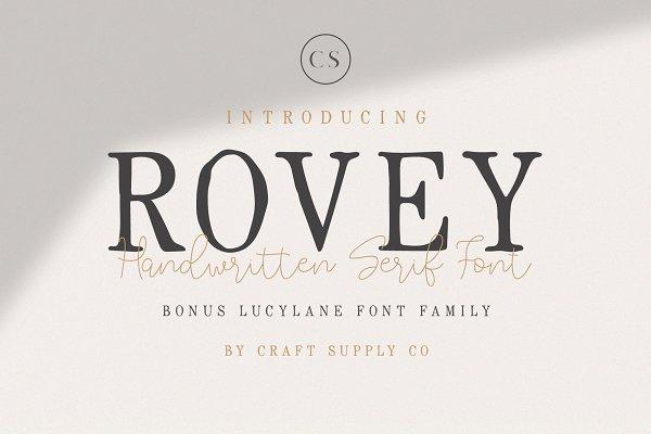 Best Rovey - Handwritten Serif Font+Bonus Vector