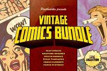 Marvelous Vintage Comics Bundle by  in Brushes