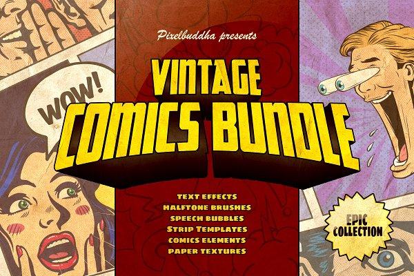 Marvelous Vintage Comics Bundle Unique Illustrator Add Ons