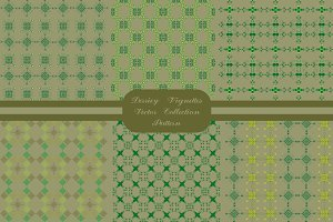 Derriey Vignettes Vector Pattern