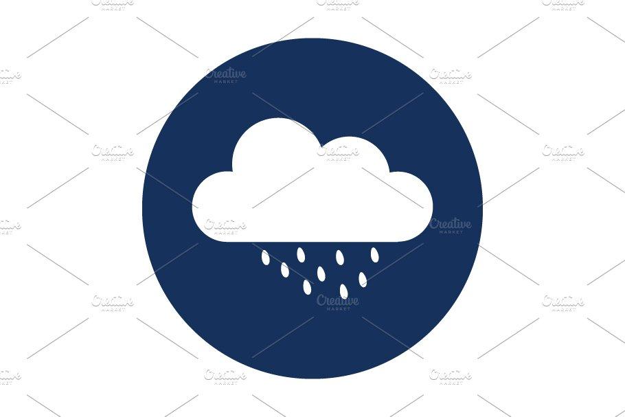save  cloud icon with rain