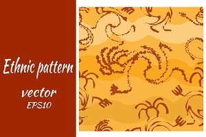 Seamless pattern with silhouettes