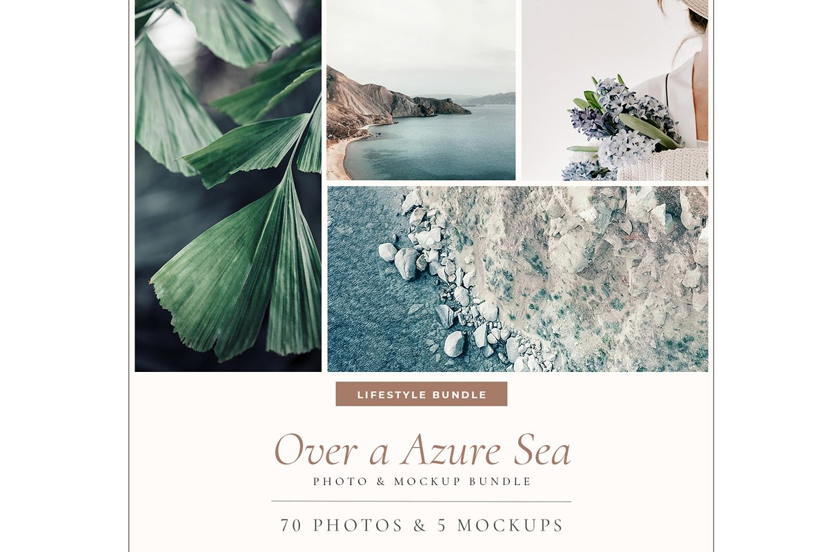 OVER A AZURE SEA. 70+ in Instagram Templates