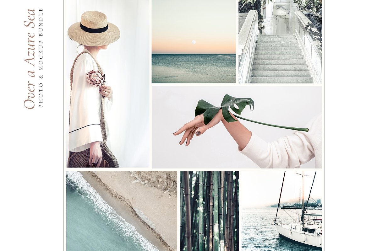 OVER A AZURE SEA. 70+ in Instagram Templates - product preview 1