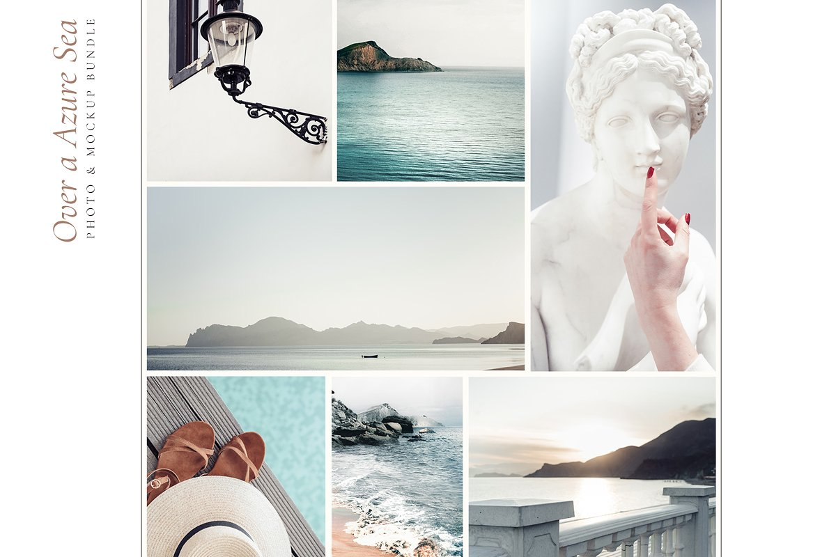 OVER A AZURE SEA. 70+ in Instagram Templates - product preview 2