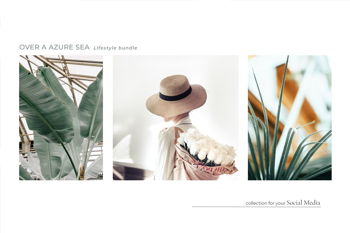 OVER A AZURE SEA. 70+ in Instagram Templates - product preview 3