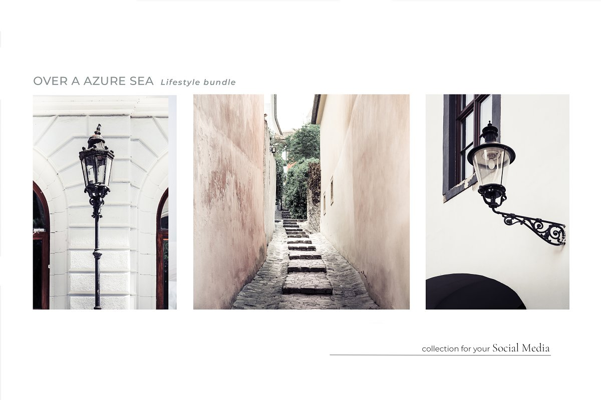 OVER A AZURE SEA. 70+ in Instagram Templates - product preview 4