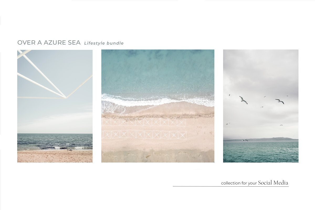 OVER A AZURE SEA. 70+ in Instagram Templates - product preview 5