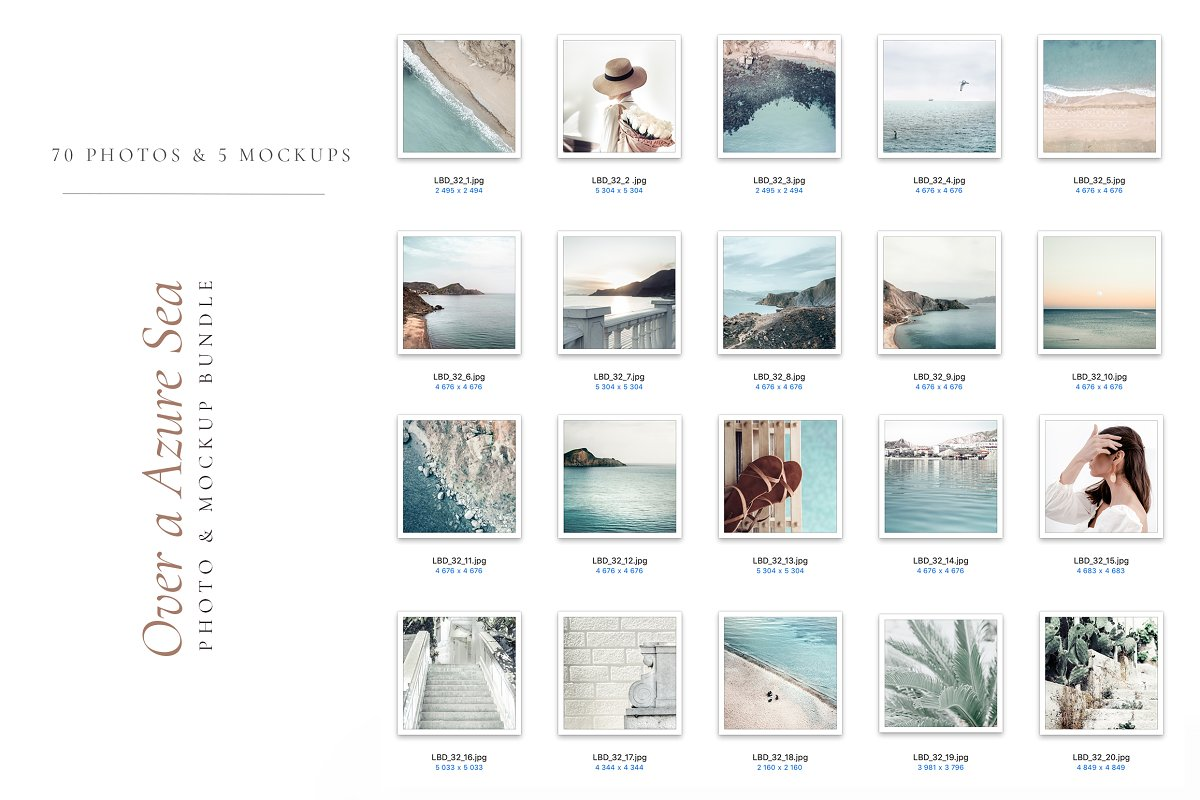 OVER A AZURE SEA. 70+ in Instagram Templates - product preview 7