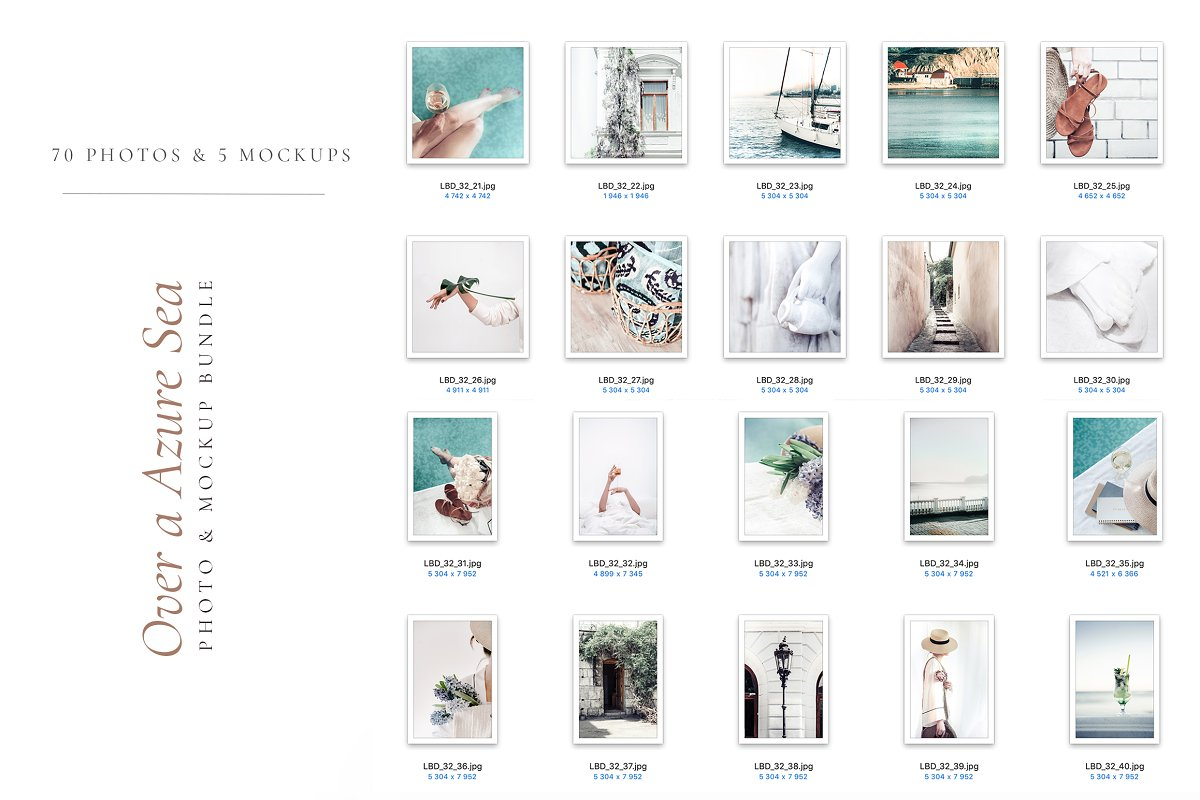 OVER A AZURE SEA. 70+ in Instagram Templates - product preview 8