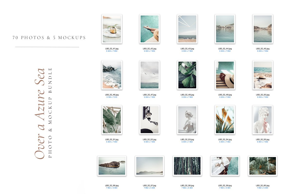 OVER A AZURE SEA. 70+ in Instagram Templates - product preview 9