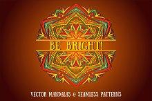 BE BRIGHT! Set of Vector Mandalas