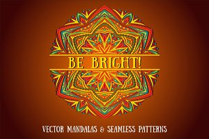 BE BRIGHT! Set of Vector Mandalas