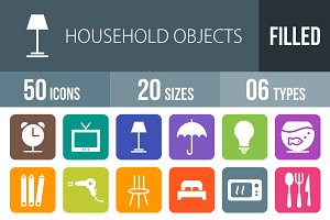 50 Household Objects Round Corner