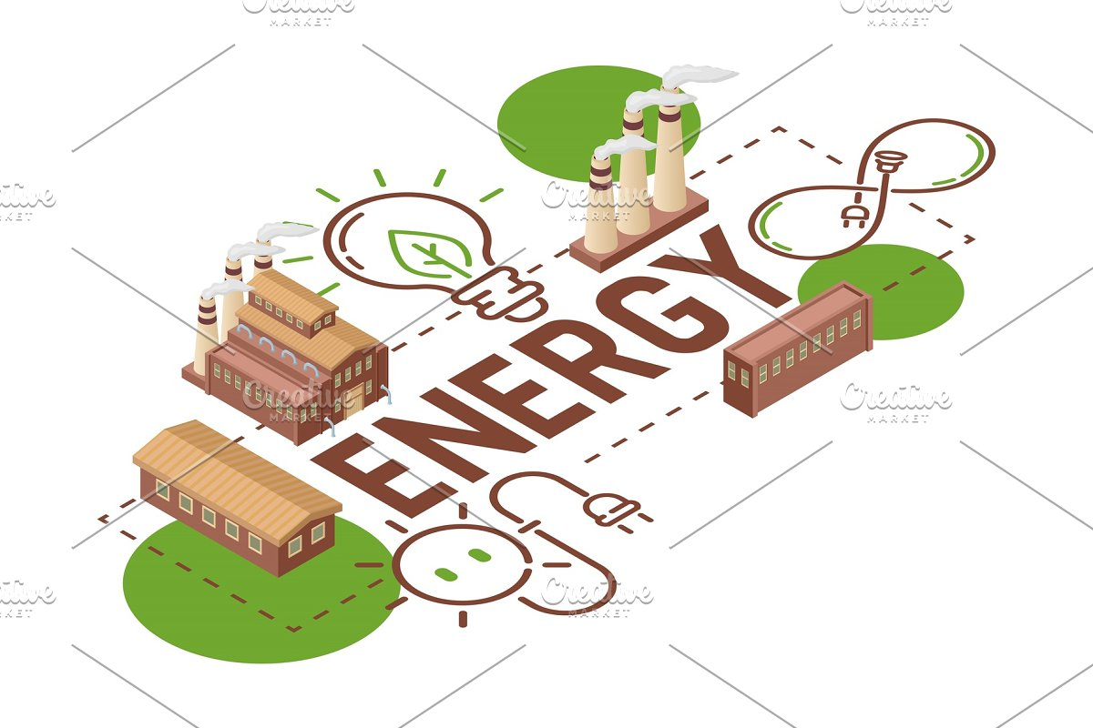 save  electricity vector earth power