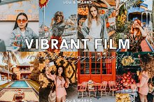 Vibrant Blogger Lightroom Presets by  in Actions