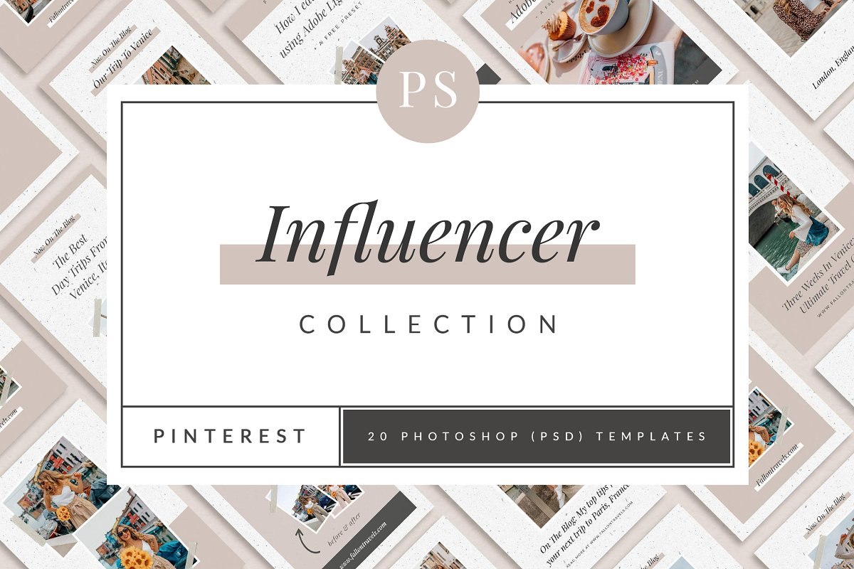 Influencer Pinterest Templates