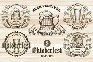 Vintage Oktoberfest badges