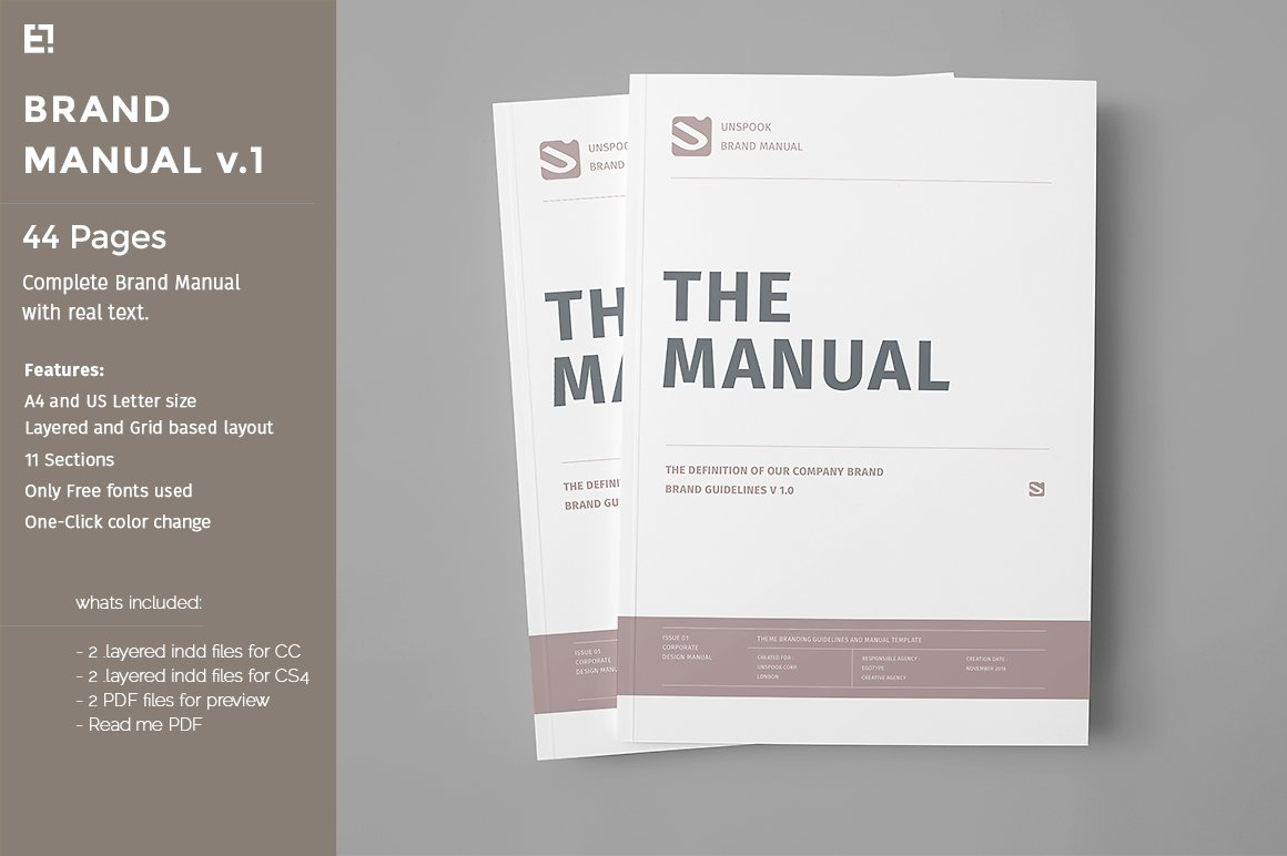 Brand Manual ~ Templates ~ Creative Market