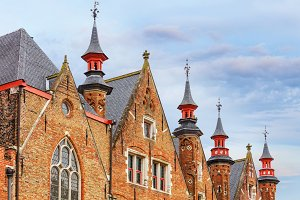 Traditional architecture of Bruges