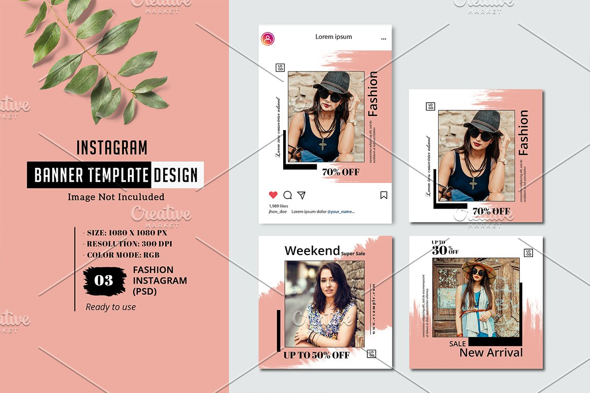 Instagram Fashion Promo Banner V13
