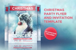 Christmas Card Flyer and Invitation
