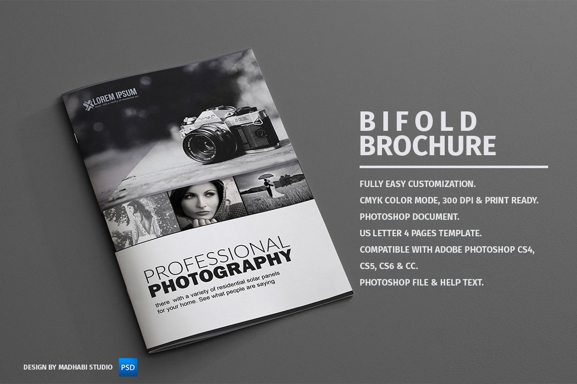 Photography bifold brochure brochure templates for Photography brochure templates