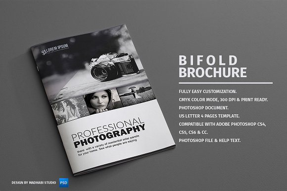 Photography bifold brochure brochure templates on for Photography brochure template free