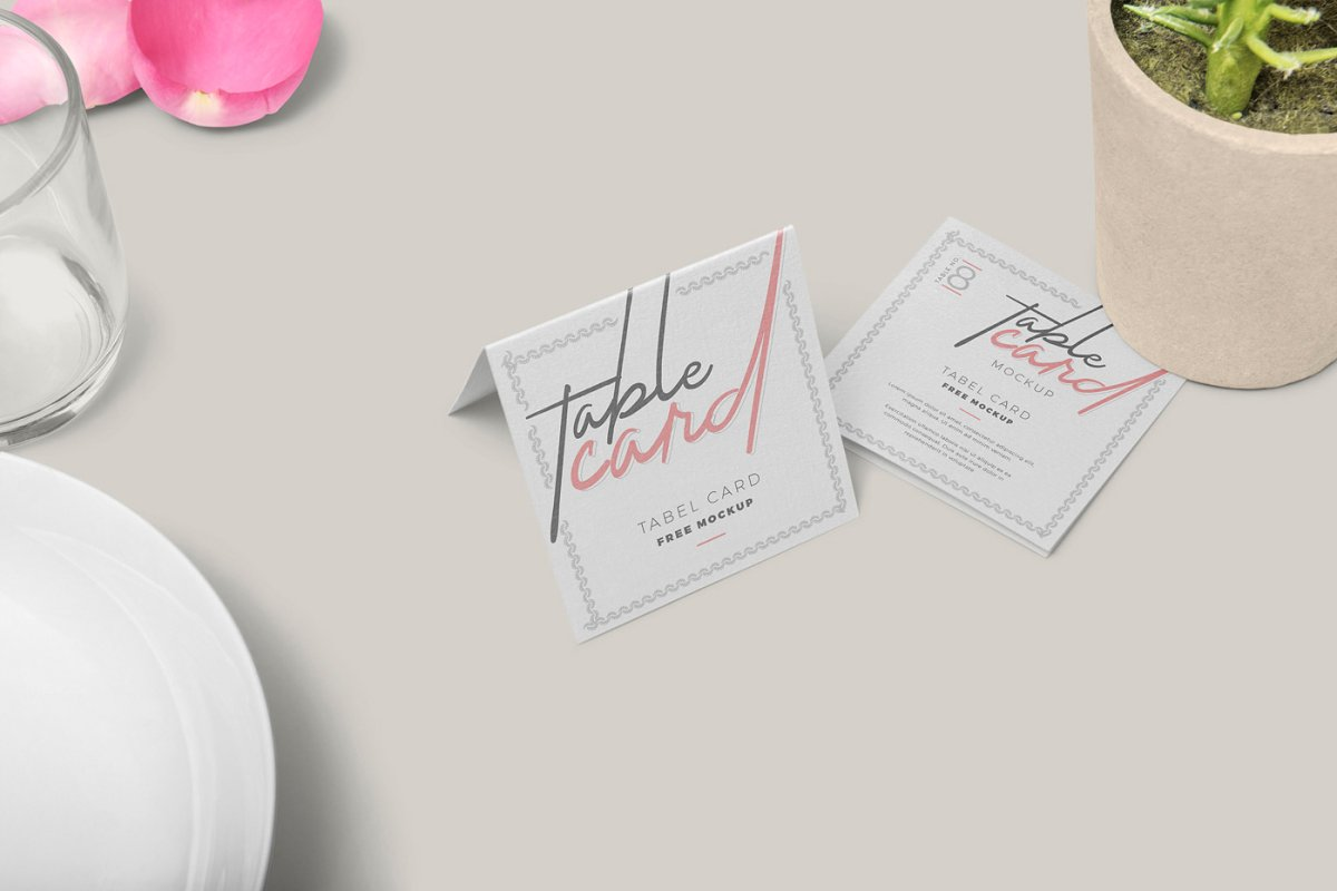 Table Card Mockups