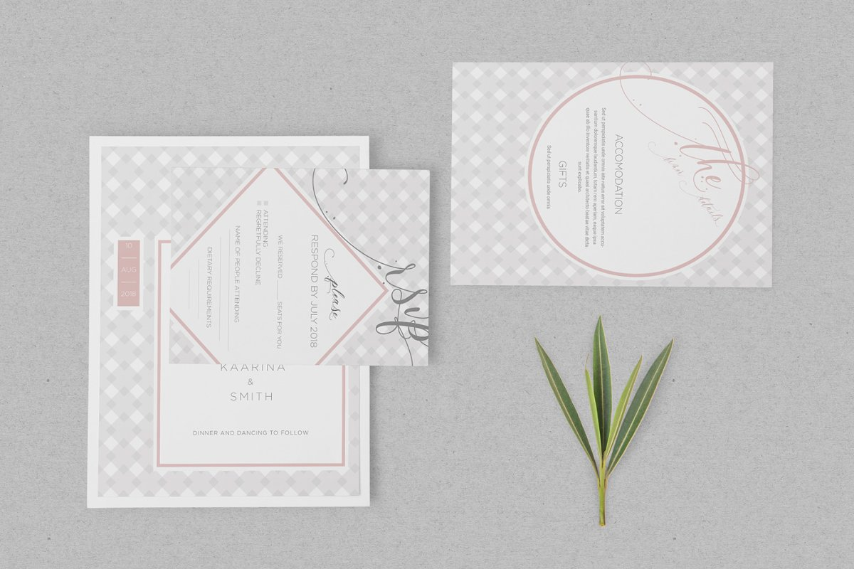 Wedding Invitation Card Psd Mockups