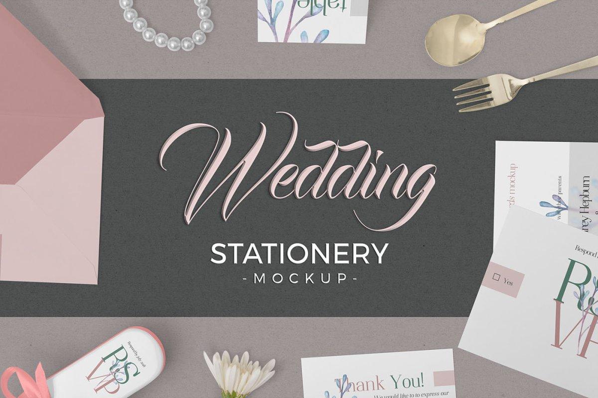 Elegant Wedding Stationery Mockups