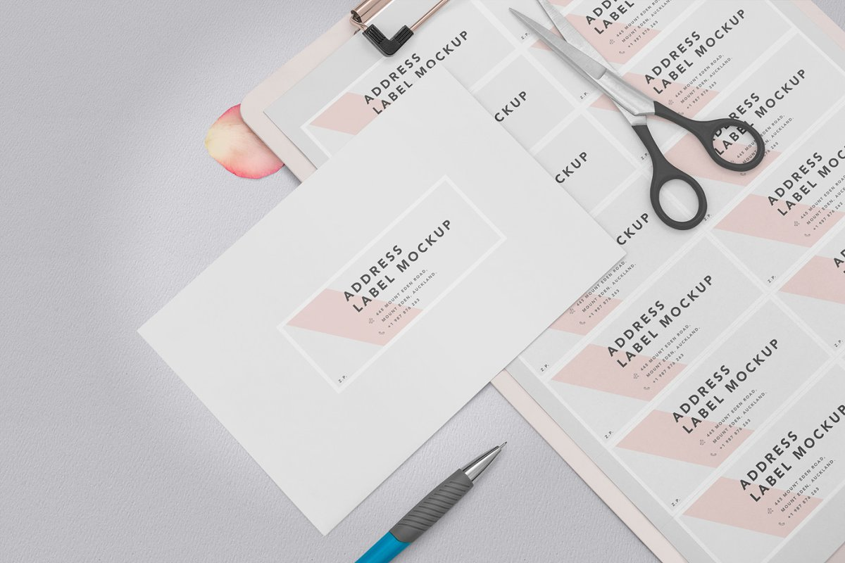 Wedding Address Label Mockups