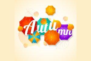 Autumn Umbrella Lettering Concept.
