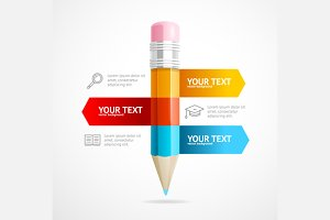 Pencil Infographic Education Concept