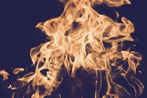 luminous fire flame