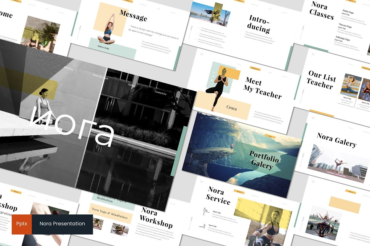 Nora - Powerpoint Template ~ PowerPoint Templates ~ Creative