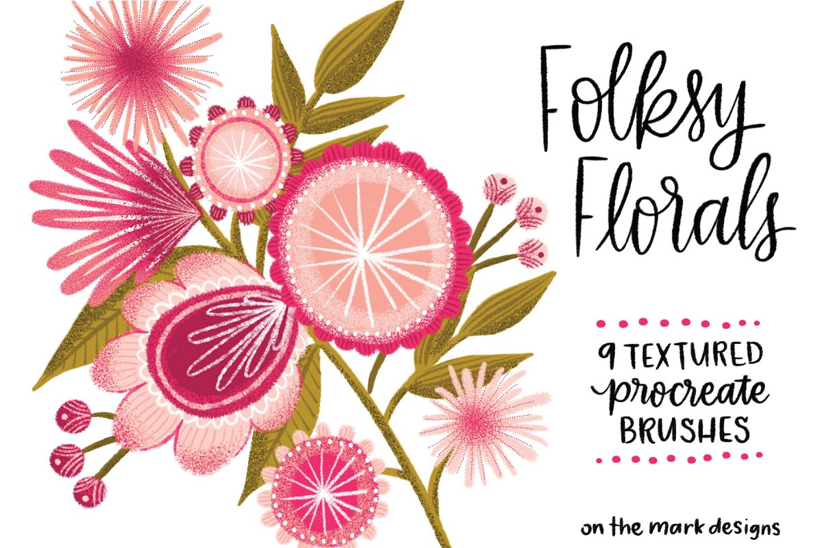 Folksy Textured Procreate Brushes