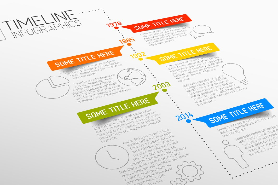 Vector timeline template presentation templates for Timline template