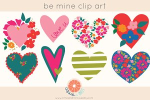 Hearts EPS and PNG Clip Art