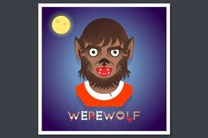 Halloween Party Werewolf Poster