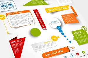 Vector Infographic Timeline Elements