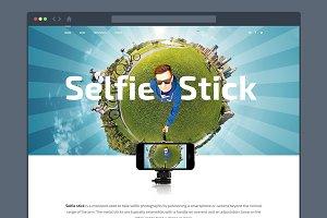 Selfie Stick — Responsive HTML/CSS