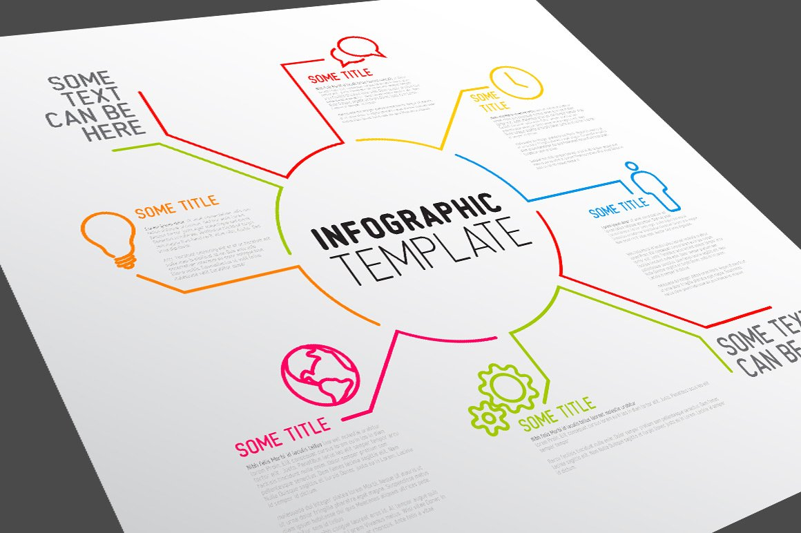 vector infographic template presentation templates creative market