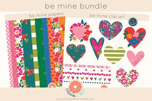 Hearts Clip Art/Paper Bundle