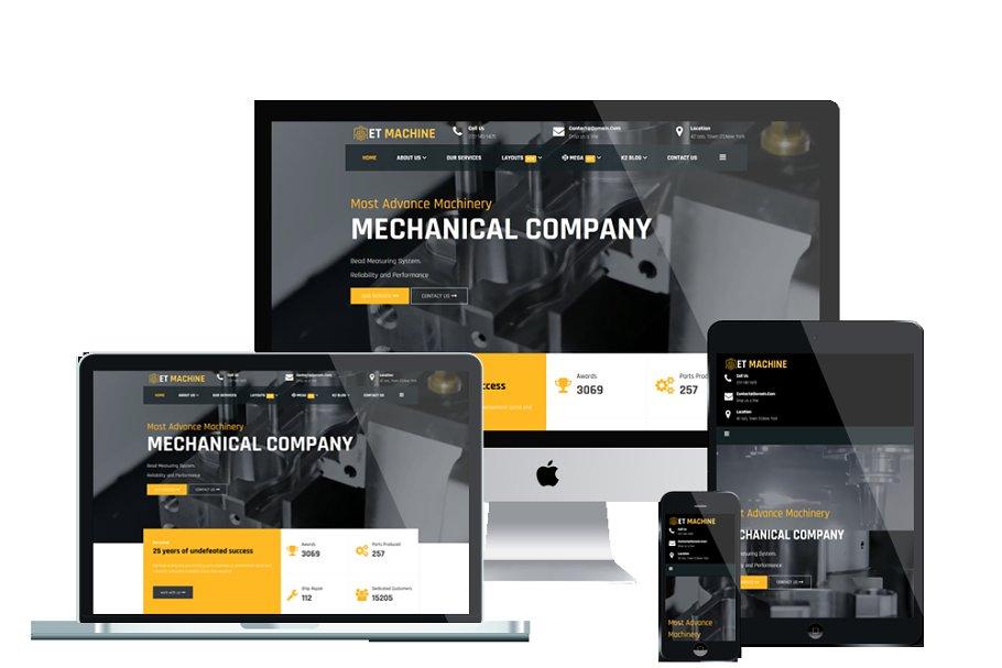 ET Machine Responsive website