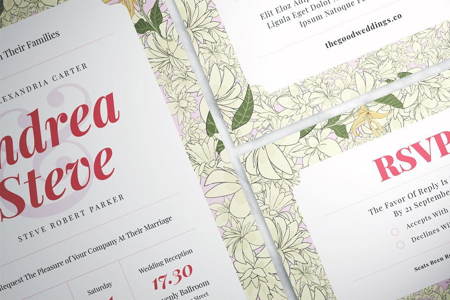 Flower Wedding Suite in Wedding Templates